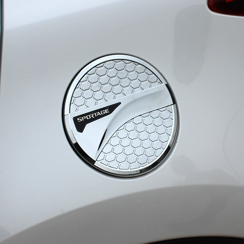 ABS Chrome Exterior Car Oil Fuel Tank Gas Cap Cover Trim Sticker For Kia Sportage 4 QL 2016 2017 2018 Car-styling Accessories