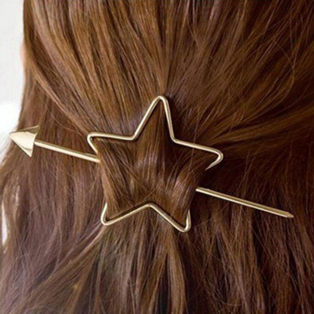 1PC Fashion Women Girl Geometric Hairgrip Hairpins Star Heart Hair Clip Delicate Hair Pin Barrette Hair Jewelry Hair Accessories