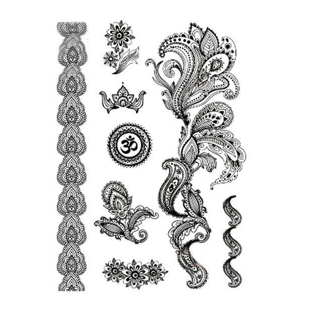 1 stück Indische Arabische Designs Spitze Flash Tribal ...