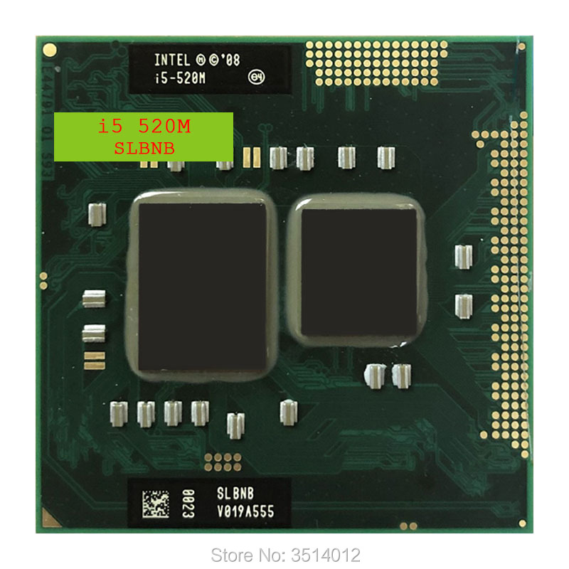 Intel Core i5-520M i5 520M SLBNB SLBU3 2.4 GHz Dual-Core Quad-Thread CPU Processor 3W 35W Socket G1 / rPGA988A 1