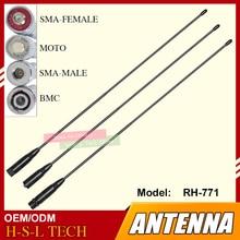 SMA/BNC Soft Flexible Walkie Talkie Antenna 144/430Mhz Dual Band VHF/UHF For Kenwood Yaesu Vertex Standard Puxing Quansheng TYT
