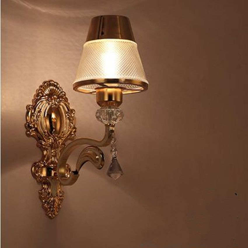 European hotel corridor European style wall lamp living room background wall lamp sofa wall double head large wall lamp bedroom ...