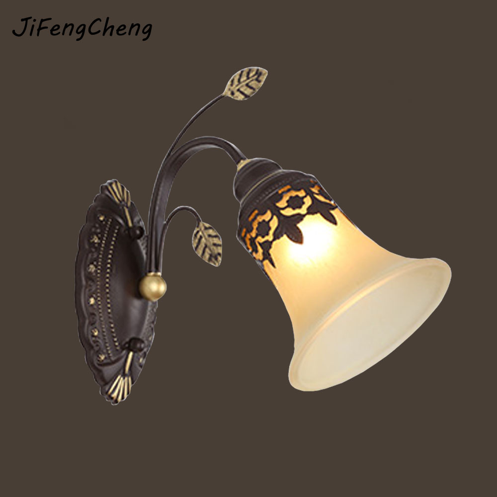 JiFengCheng  Vintage LED Sconce  Wall Lamp E27 Light for Loft Bathroom Luminaire  Iron Wall Reading Bed Lamps  Home Lighting reading literacy for adolescents