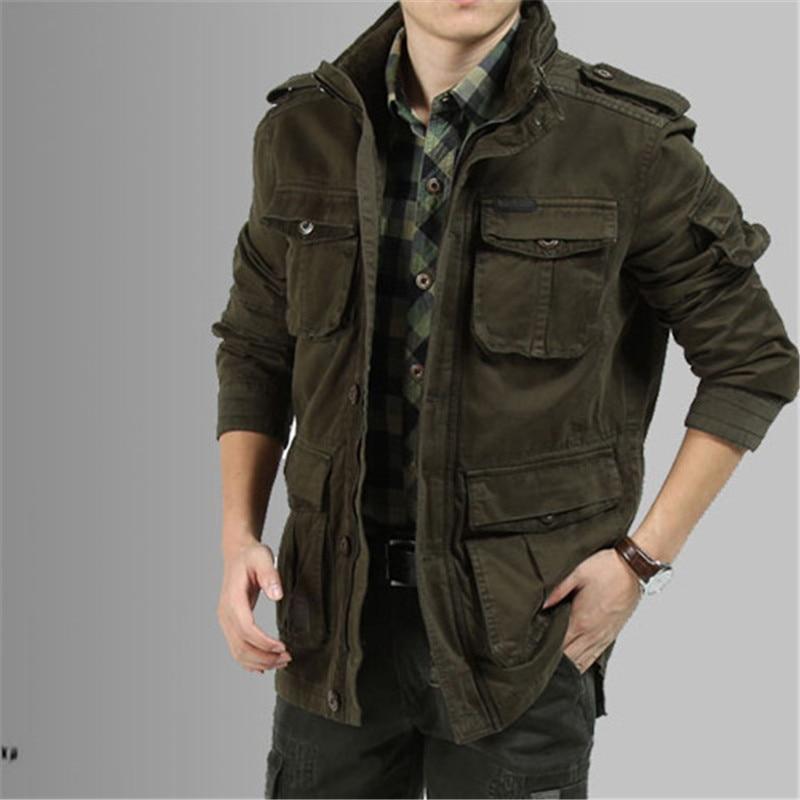 Big Size M 5XL 2017 Winter Jacket Men Casual 100% Cotton Denim ...