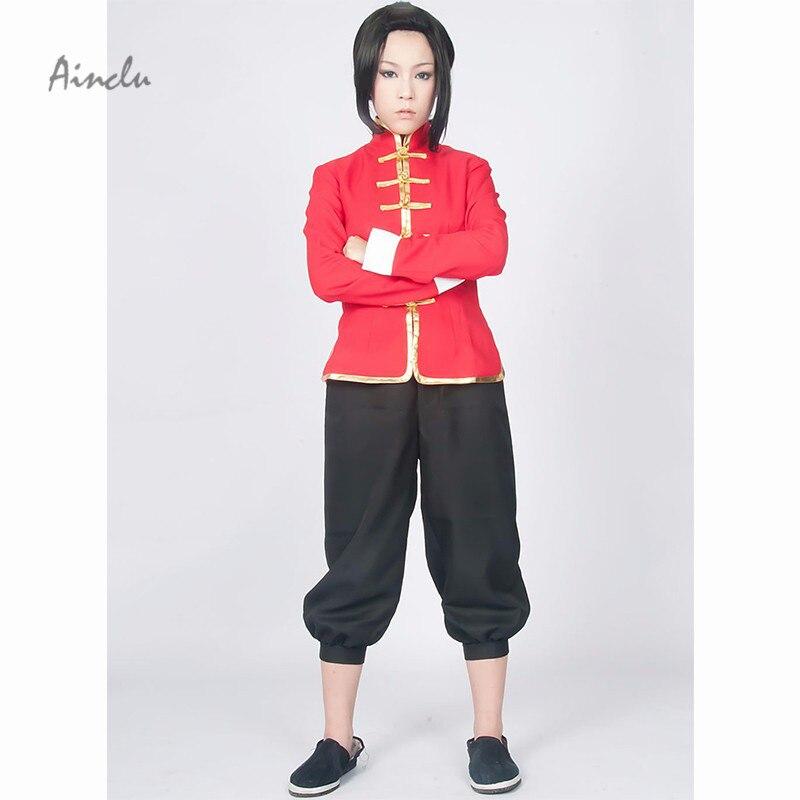 Ainclu TOP Axis Powers Hetalia China Wang Yao Tang Suit Anime Cosplay Costume For Halloween