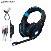 KOTION EACH G4000 Stereo Gaming Headphone Bass Headset Wired Headband With Microphone Volume Control For PC Game Computer PS4 oyk ok 400 3 5mm wired stereo headband headphone lemon yellow silver