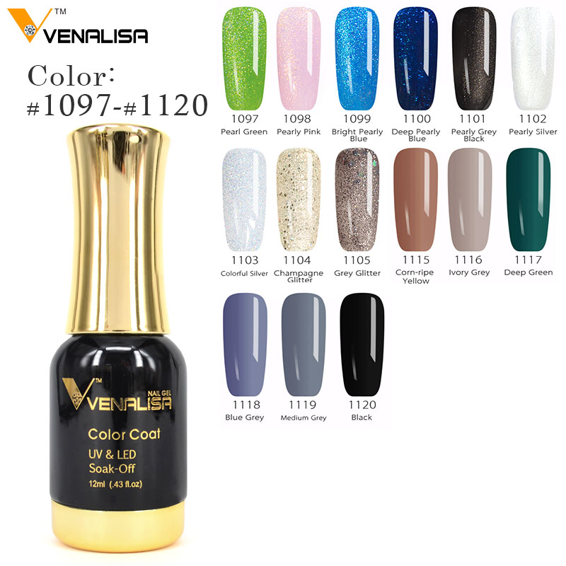 2018 Hot Sale Venalisa Gel Nail Polish Long-Lasting Soak-off Nail Polish Gel Polish 12ml 111 Colors Optional Nail Polish