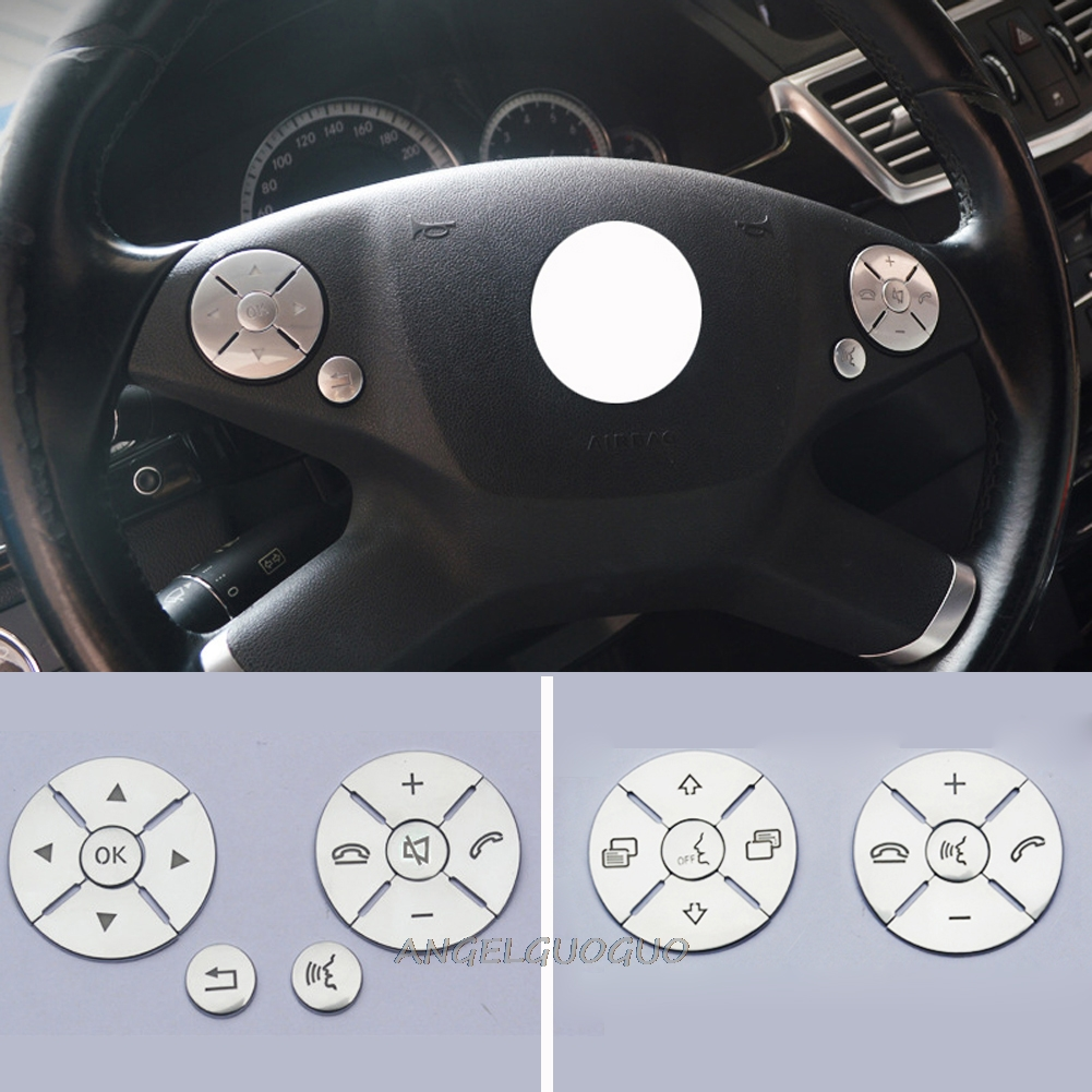 Steering Wheel Button Switch Trim Cover Sticker for Mercedes Benz E C S GLK R ML