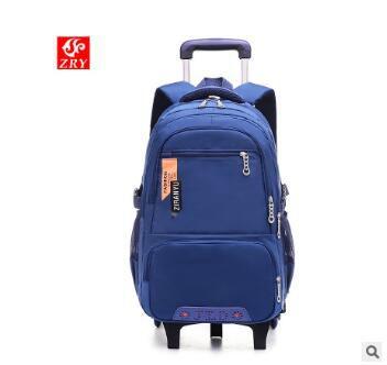 ZIRANYU School Wheeled Backpack Bags For Boys Children Trolley Backpacks For School Kids Backpack On Wheels Student Rolling Bags