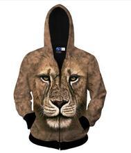 Tiger/Leopard/Löwe/Bambi Zip-Up Hoodies Frühling Casual Pullover 3D Gedruckt Frauen/Männer Sweatshrit oberbekleidung