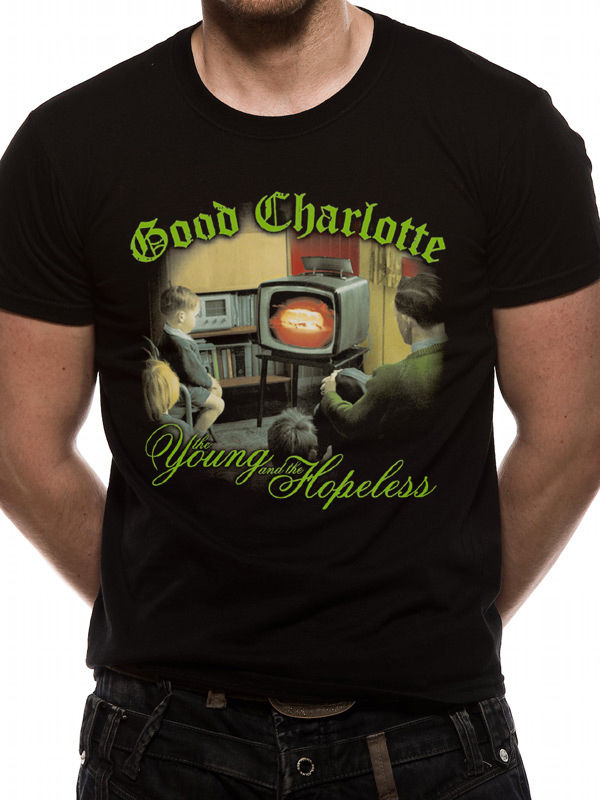 Cotton Shirts Good Charlotte Mens T-Shirt Top Licensed Merchandise Young And Hopeless Xxl Summer Style Casual Clothing