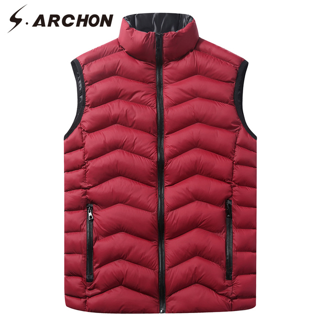 S.ARCHON Winter Tactical Sleeveless Vest Men Hoodie Military Cotton Hoodie Casual Vest Street Wear Photography Vest Waistcoats