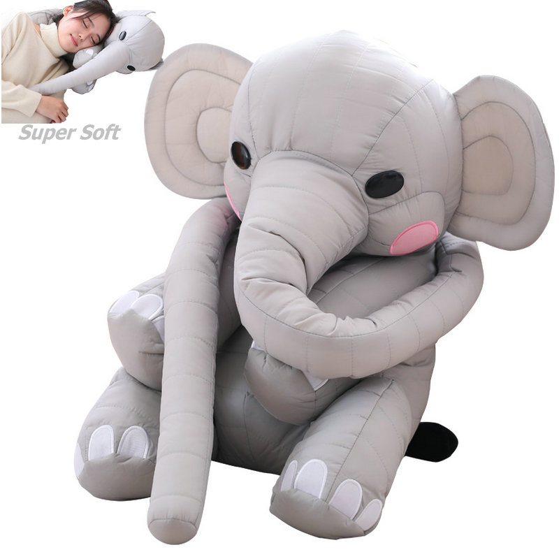 Super Soft Super Long Elephant Cushion Stuffed Plush Big ears elephants Pillow Baby breast feeding Pillow Gifts for girlfriend