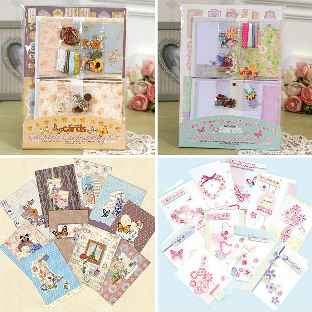 ENO Greeting Birthday Card Kit For Kids DIY Blank Gift Set Flower Scrapbook In Cards Invitations From Home Garden On Aliexpress