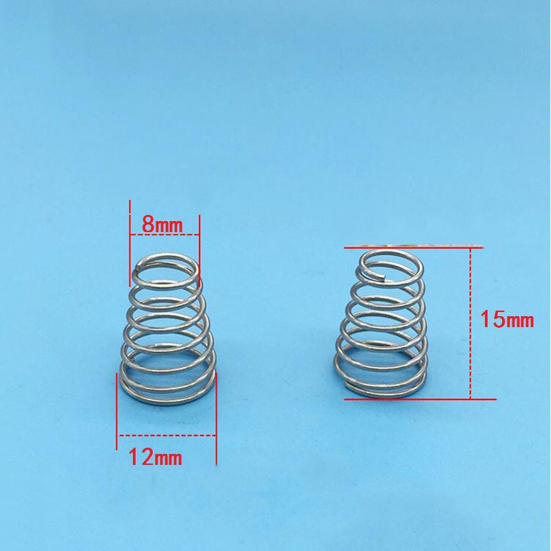 Pagoda spring conical compression springs wire D0.8mm OD 8mm * 12mm ...