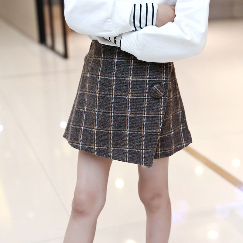 0cee49ae7ee4f Autumn olde baby girls Plaid Skirt Fashion Elastic Waist Children Shorts  Clothing Kids Skirts For Girls