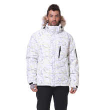 2019 New Arrival Men Down Jacket Winter Coats 80% White Duck Real Raccoon Fur Jackets Mens
