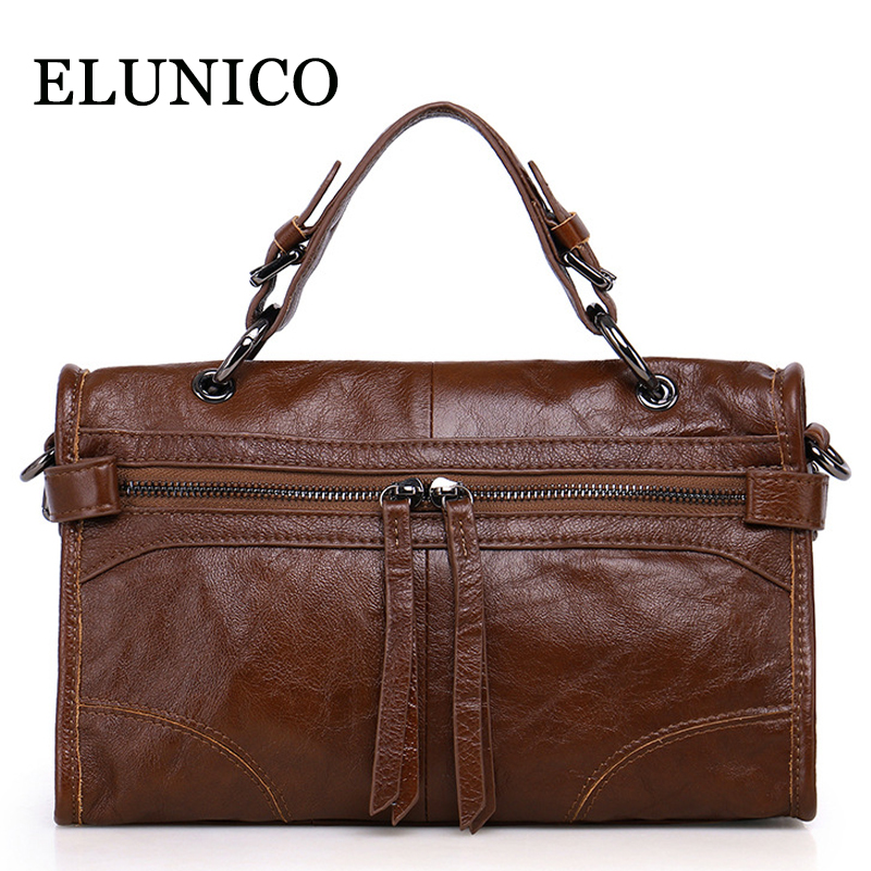 ELUNICO Female Genuine Leather Shoulder Bags Handbags Women Famous Brands Fashion Messenger Bag Female Crossbody Bags Sac A Main building block set compatible with lego animal rescue 3d construction brick educational hobbies toys for kids