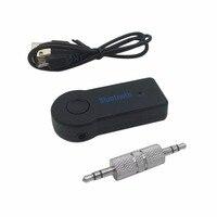 Беспроводной автомобиля Bluetooth V3.0 приемник адаптер 3,5 мм AUX аудио стерео музыку Hands free Автомобиль Bluetooth аудио адаптер построить В Mic