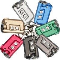 NITECORE TINI 키 체인 빛 380 루멘 크리어 XP-G2 S3 USB 충전식 내장 배터리 키 버튼 손전등 야외 미니 EDC