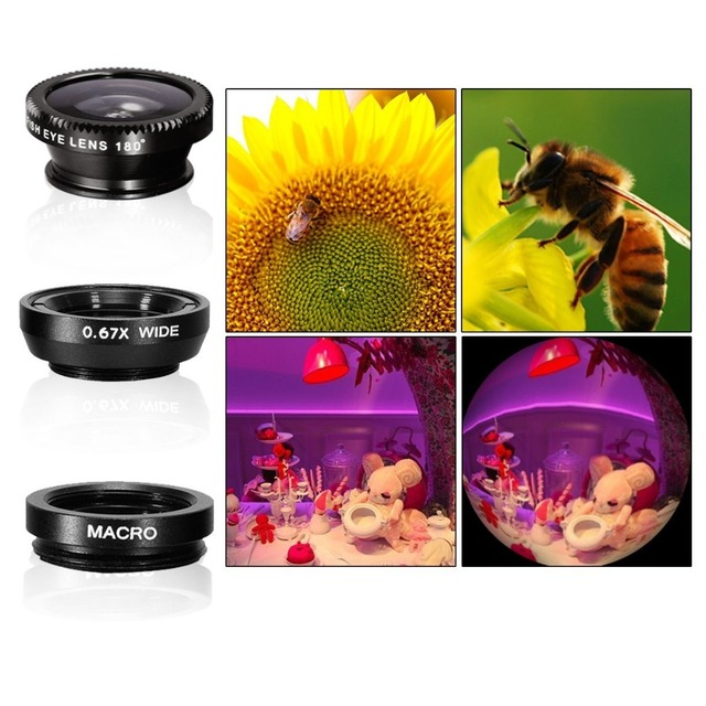 5in1 12X Zoom Camera Telephoto Lens Phone Telescope 3in1 Clip on Lens Kit Wide Angle Fish Eye Macro for iPhone Samsung 12X5in1 2