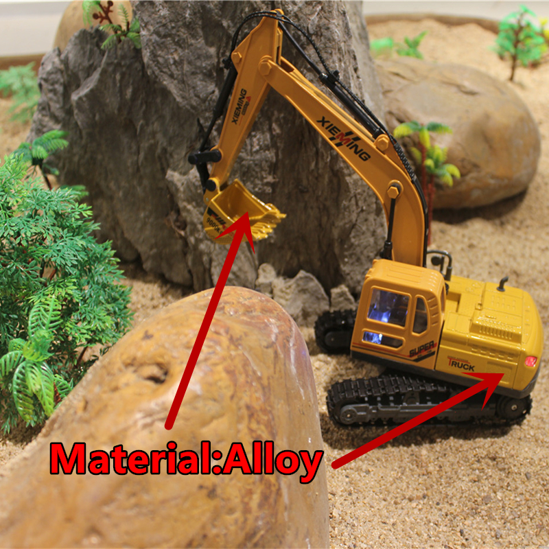 ФОТО RC Truck Alloy 2.4G Crawler Excavator Remote Control Truck Clasps Car Engineer  Vehicles With Light Music Simulation Toy 6830L