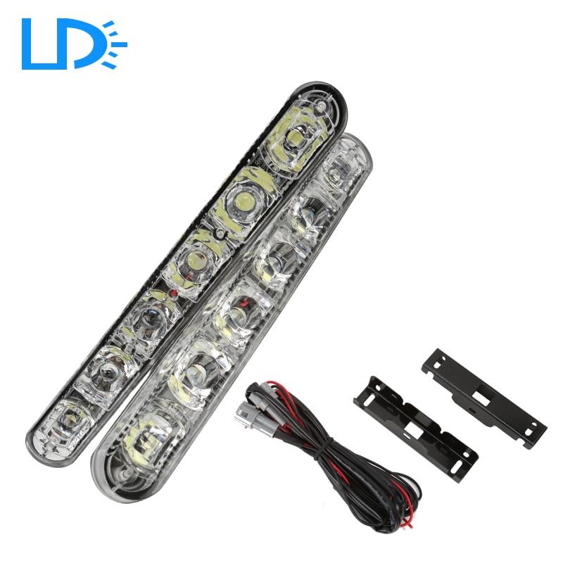 12V waterproof 6-LED White Super Bright car styling Autos DRL Daytime Running Lights Fog Lamps interior light led drl