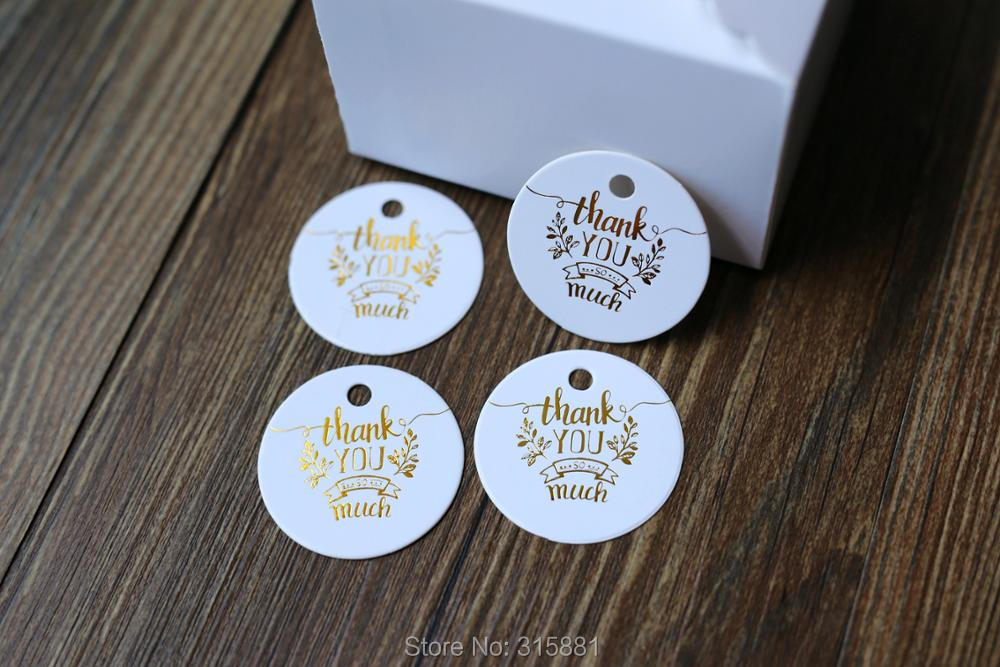 100 x Card Gift Tags Unstrung Blank Label Wedding Present 70mm x 40mm Orange