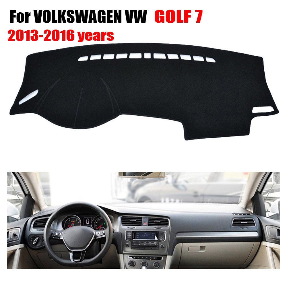 FUWAYDA Car dashboard covers mat For VOLKSWAGEN VW GOLF 7 2013-2016 left hand drives dashmat car pad Instrument platform