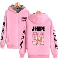 Hip Hop Fashion Brand Clothing Bangtan Boys KPOP BTS Pink Women Hoodies Sweatshirts Winter Thick Warm