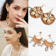 2019 Handmade New Sea Shell Pearl Pendant Earrings Gold Statement Drop Earrings For Women Weddings Party Irregular Jewelry Gift цена