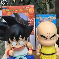 2pcs Lot High Quality Anime Dragon Ball Gokou Kuririn Childhood Time Cute Action Figure Model Boy