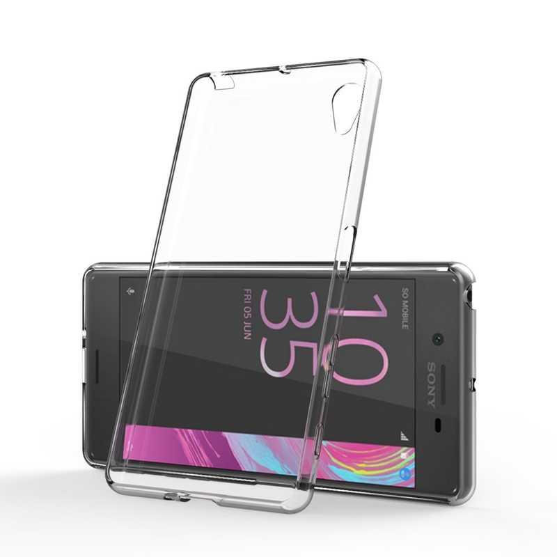 Przezroczysty silikonowy futerał TPU dla Sony Xperia Z1 Z2 Z3 Z4 Z5 kompaktowy Mini M2 M4 M5 T3 E3 E5 XA XA1 XZ Premium telefon okładka