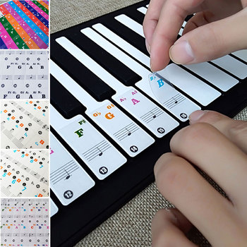 37/49/61/88 Keys Piano Keyboard Sticker Teaching Creative Stave Note Stickers Electronic Organ Music Beginner Children