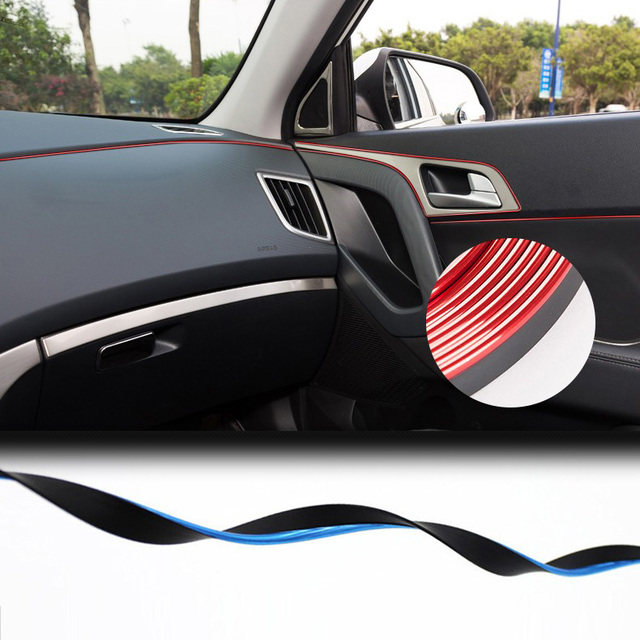 5m Car styling interior Decorative thread sticker Insert type Air ...