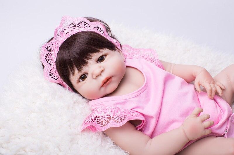 22 Full Body Silicone Bébés Reborn Jouet Bébé Reborn Rose Princesse Poupée Enfant Cadeau D'anniversaire Présent Belle Filles brinquedos