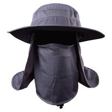 Buy Dark Gray Outdoor Fishing HobbyLane 360 Degree Assembled Neck Cover Fish Camping Hunting Snap Cap Cap Ear Sun Flap Movement directly from merchant!
