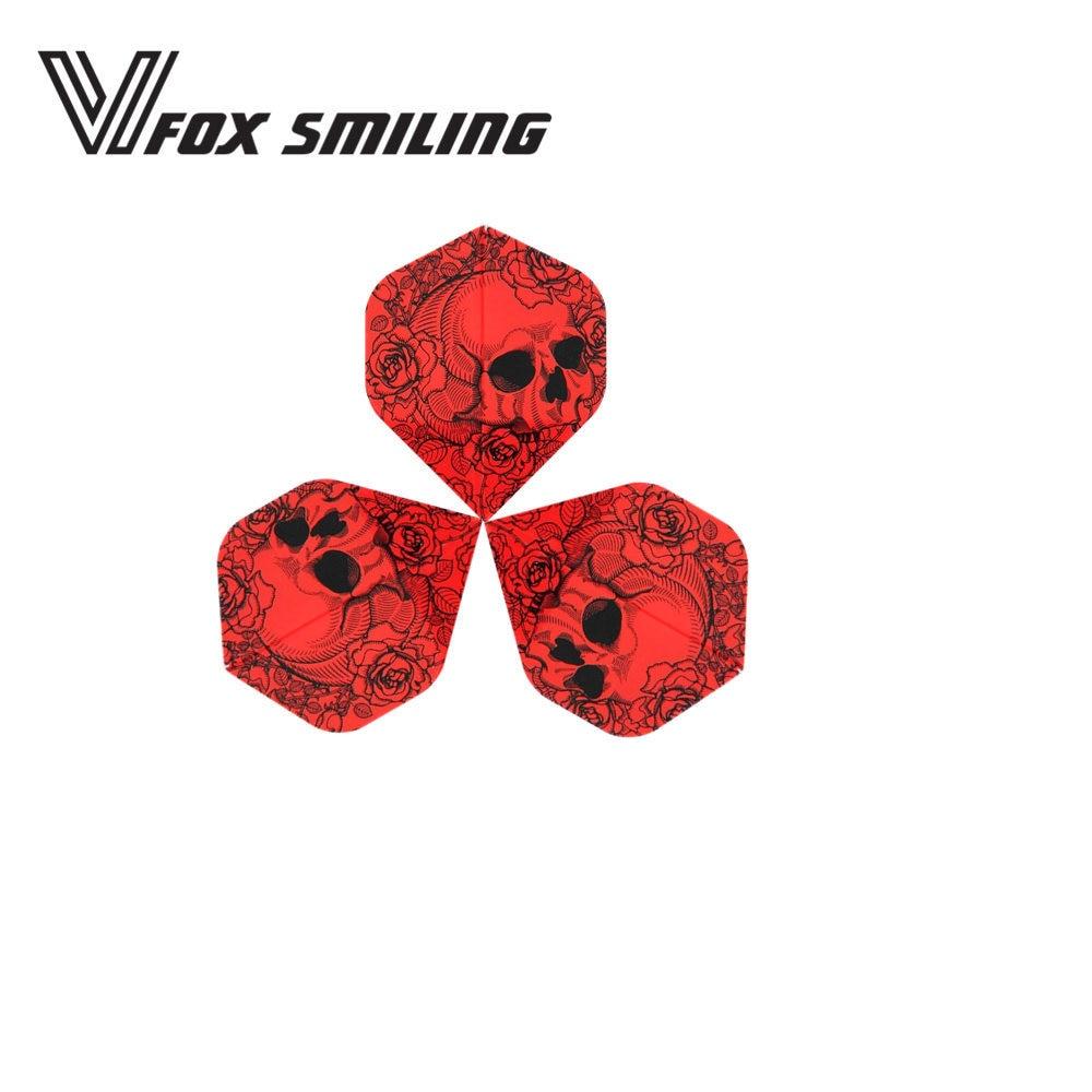 Fox Smiling 6/30pcs Red Skull Dart Flights Nice Darts Wing Tail Dart Accessories