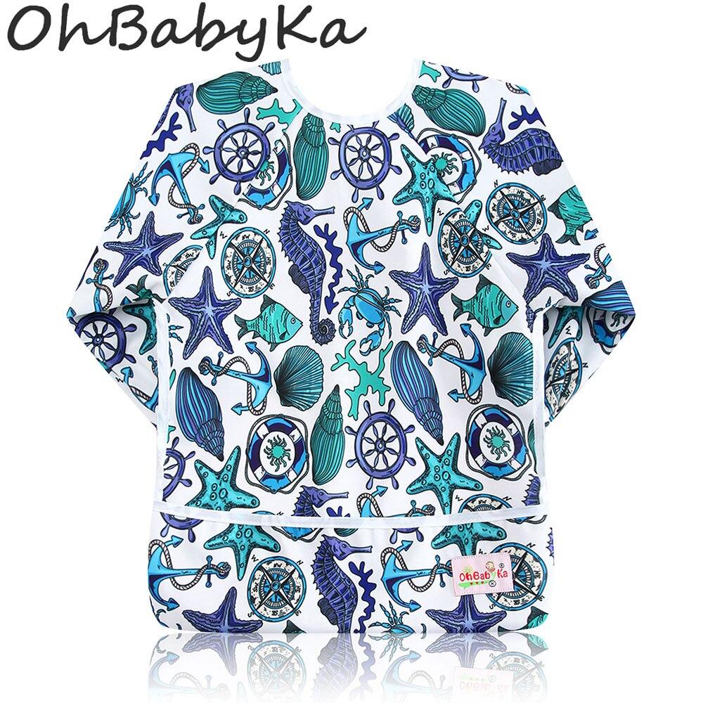 Ohbabyka בייבי Bibs Waterproof יילוד גיהוק בגדים - ביגוד לתינוקות