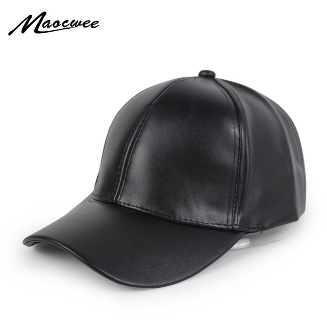 Nueva gorra de béisbol de superficie de cuero PU para hombres gorras Hip  Hop para mujeres 73ded5f7019