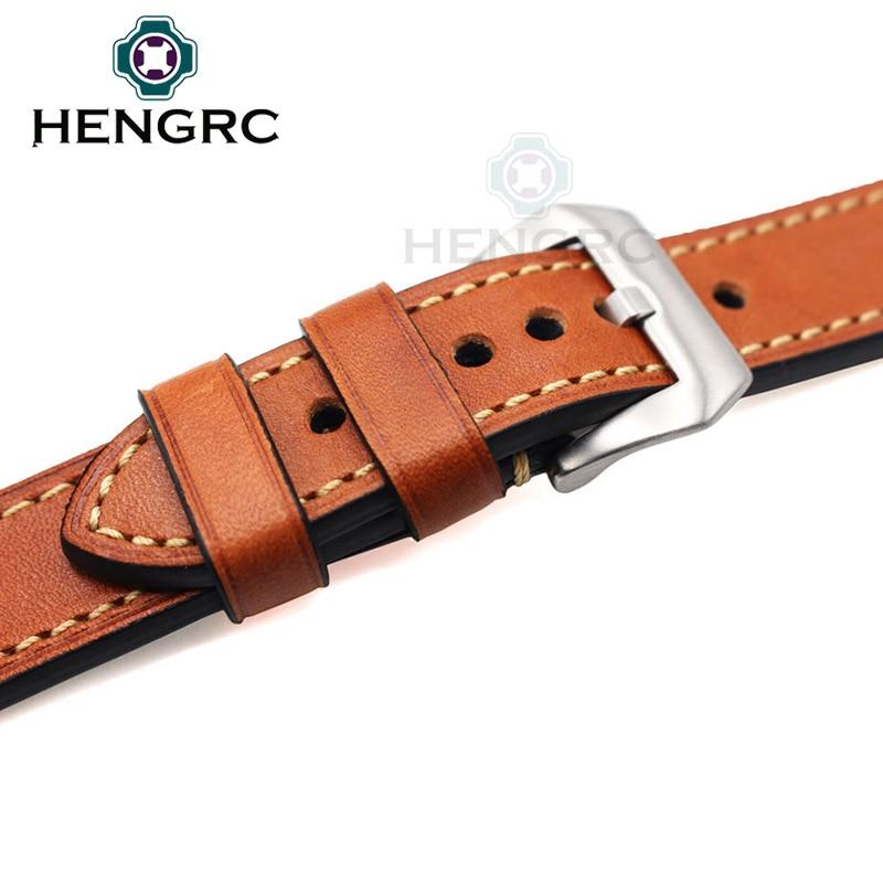 Pulsera de correa de reloj de cuero genuino 24 mm 22 mm 20 mm Correa - Accesorios para relojes - foto 6