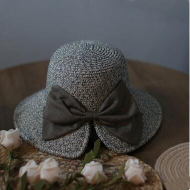 9b30a725 2018 Korean version of the summer butterfly split female straw hat outdoor  sun protection hat female sun hat visor
