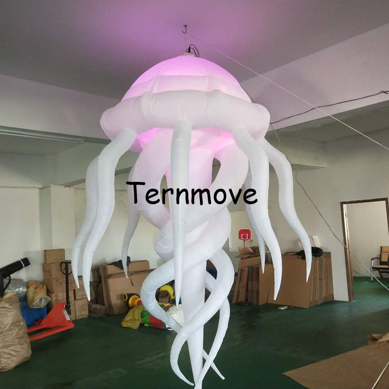 Free shipping Cheap party night bar event inflatable decoration jellyfish wedding decoration with LED light huge inflatable kite free shipping led light up inflatable heart shpe light inflatable lighting 2 4m for valentine s day wedding toy decoration