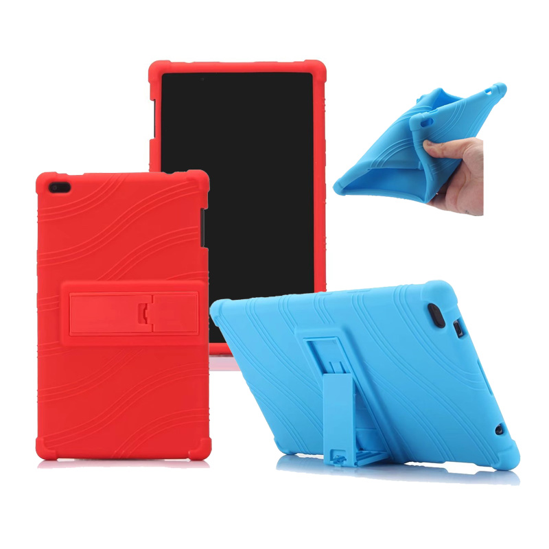 20PCS Lot Soft Silicone Stand PU Cover Case For Lenovo Tab 4 8 TB 850F N