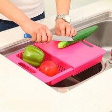 Schneidebrett Lebensmittel Constainer Lagerung Cut Für Küche Schneidebrett Blöcke Obst Schiebe Regal Waschen Gericht Tropffilter Werkzeuge Neue