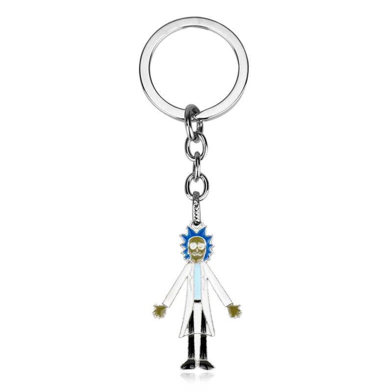MQCHUN Anime moda Rick i Morty brelok Model zabawki wisiorek panie Poopybutthole rysunek Rick Morty kreatywny Cartoon Keychain-50