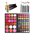 82 Colors Concealer Cream Lip Gloss Blusher Eyeshadow Palette + 7pcs Eyeliner Eyebrow Makeup Brushes Eye Brush Set Cosmetic kits
