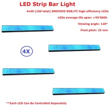 hot deal buy free shipping 4pcs/lot smd5050 rgb 3 colors long strip led bar lights each led can be controlled separately 100-240v new desi