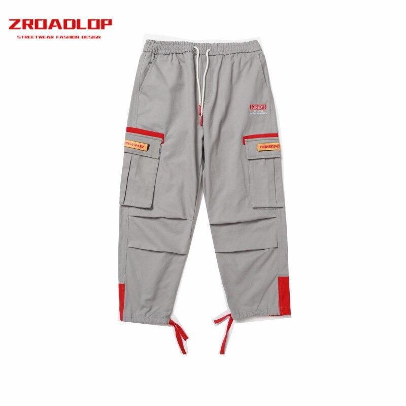 6c92d12d71fe92 Fashion 2019 Nero Hop Mens Stile Il Alta Zroadlop Pantaloni Cargo viola  Pannelli Casual Tasche A ...