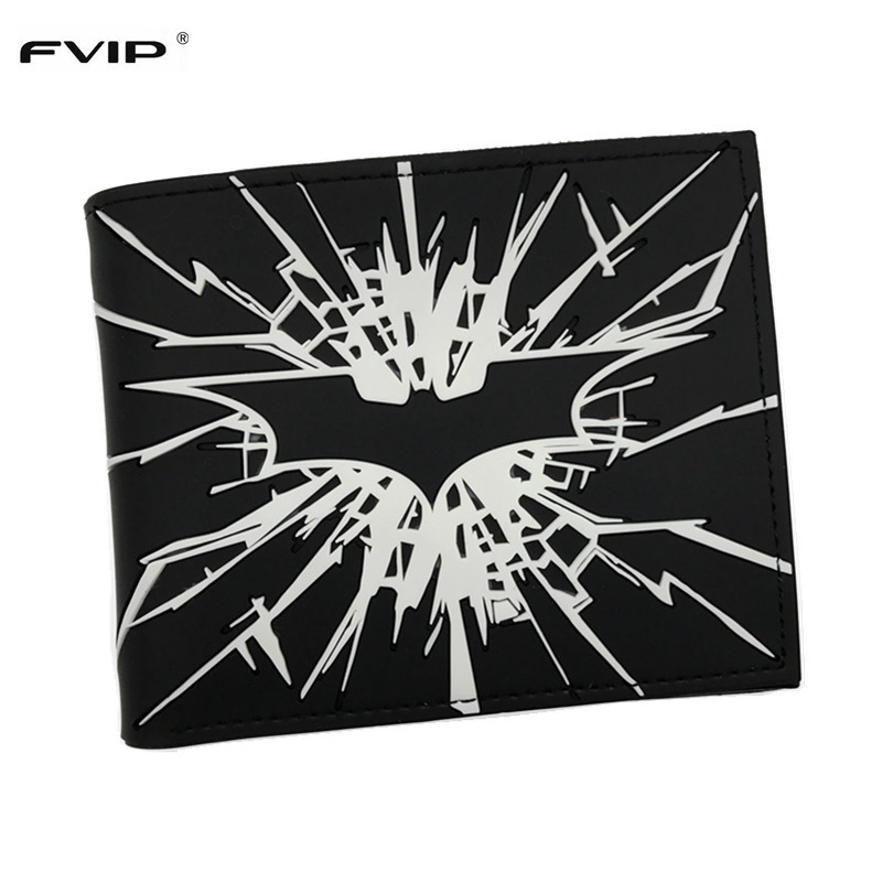 FVIP New Arrival DC Comics Wallet The Dark Knight Batman /The Joker Why So Serious and Harley Quinn Short Wallet Dollar Price недорого